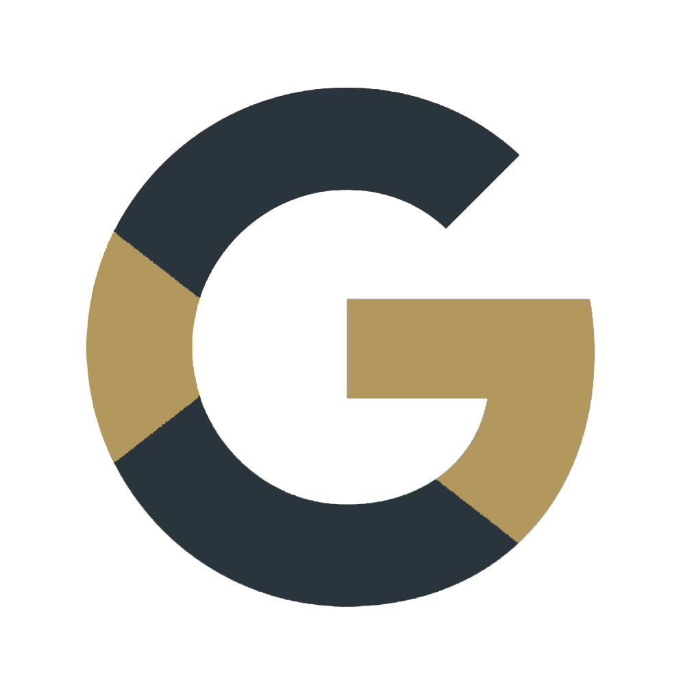 Custom Google My Business Graphic in Gold and Blue